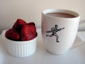 Café y frutas